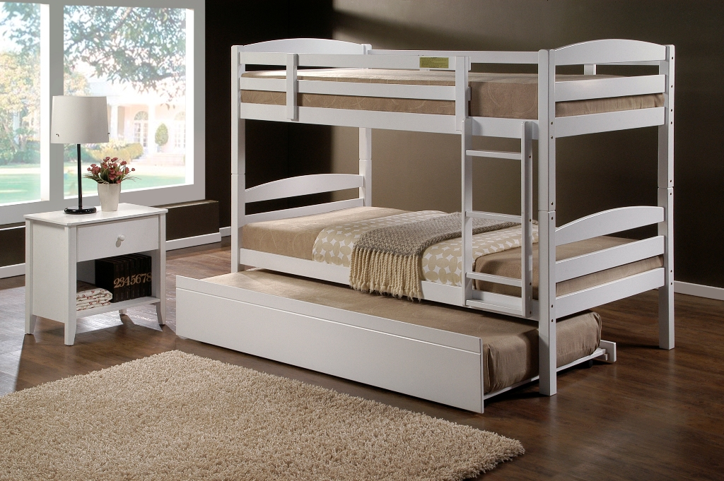 cosmos white king single bunk beds single trundle bed