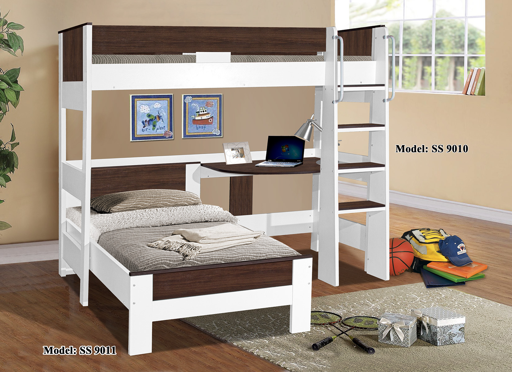 Denver single loft bunk 9010 9011 for Single bunk bed