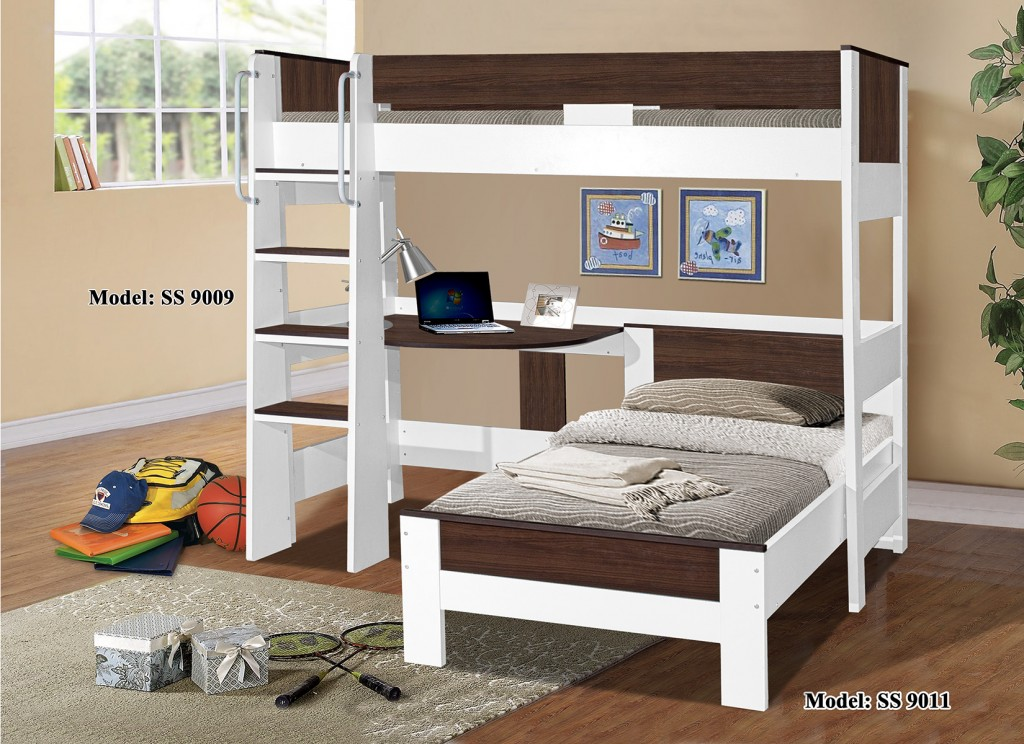 Denver single loft bunk 9009 9011 for Single bunk bed