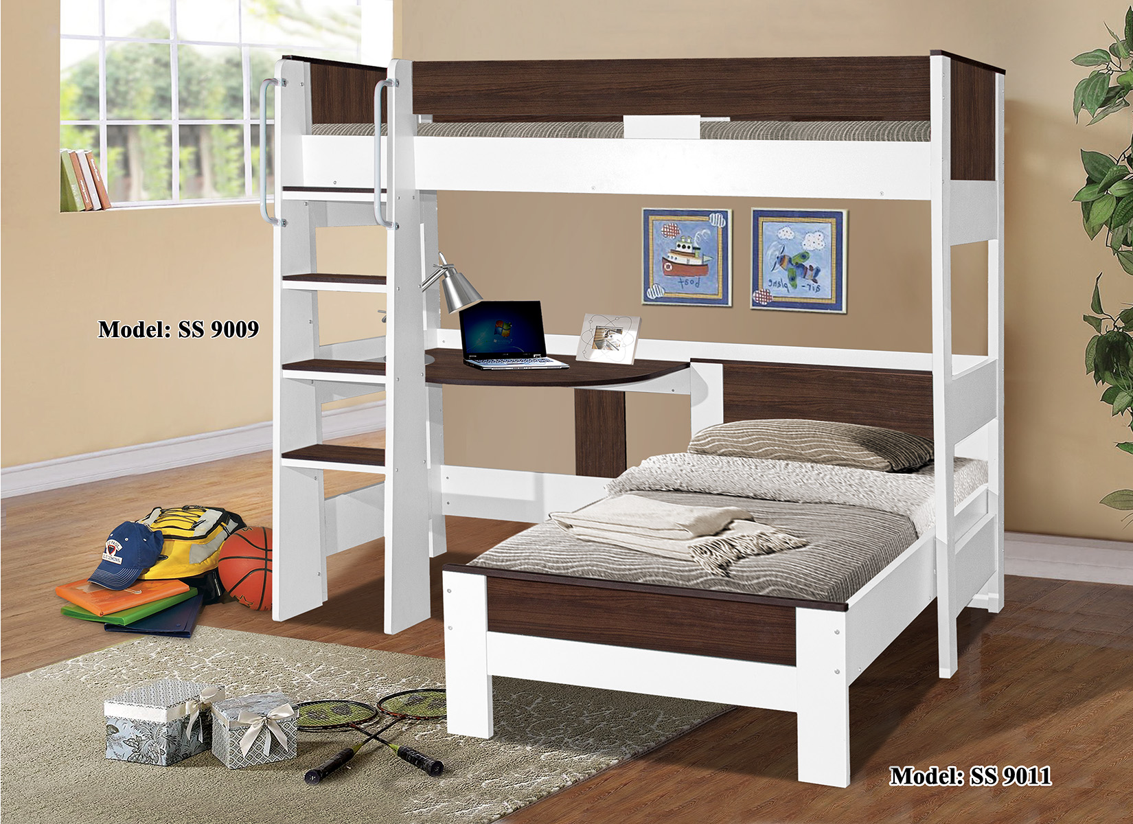 Denver Single Loft Bunk 9009