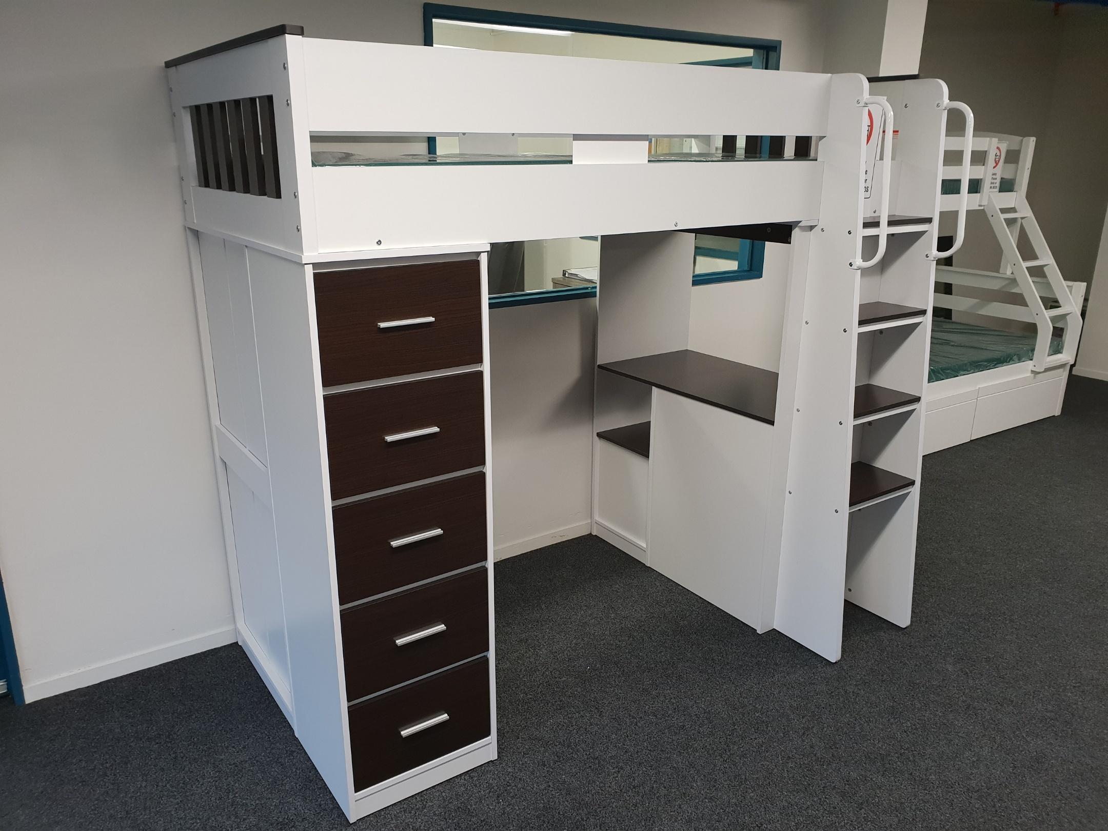 Dallas Loft Bunk With Desk Storage